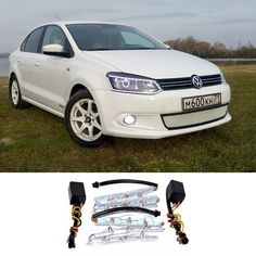 19.68$  Buy here - http://alimye.shopchina.info/go.php?t=32793236981 - 2X LED Headlight Flexible Strip Light White Amber Tear Eye Turn switchback Lamp For vw polo passat t5 bora touran Golf 3 4 5 6 7  #magazineonline