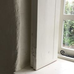 Stone Cottage - deep windowsills in th Cottage and reclaimed wooden shutters, lime hemp plaster walls for insulation Interior Design Courses Online, Interior Design Software, Rustic Wall Decor, Home Decor Wall Art, Bedroom Decor, Anglepoise Lamp, Stone Cottages, Wooden Shutters, Dry Stone
