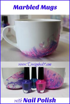 Easy and FAST. This is a 5 minute craft project. Make that special mug for your office. Also a great project to do with kids that they can take home with them from the party. minute Crafts Marbled Mugs Mug Crafts, 5 Min Crafts, Decor Crafts, Home Crafts, Easy Crafts, How To Make Diy Projects, Projects For Kids, Craft Projects, Crafts For Kids