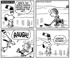 This strip was published on February 10, 1969. This evening [7/11] marks the beginning of the 40th Annual Snoopy's Senior Hockey Tournament! Good luck to all the teams