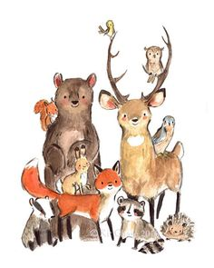 Children's+Art+++WILD++Archival+Art+Print+by+trafalgarssquare