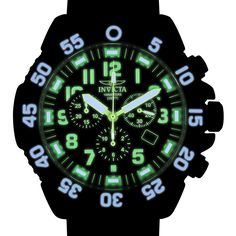 Men's Pro Diver Chronograph Black Dial Black Polyurethane