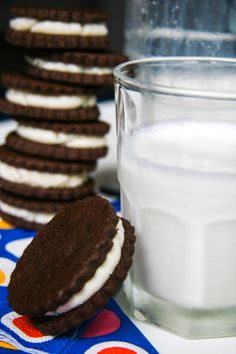 now you can have single stuffed, double stuffed or even triple stuffed!! homemade oreo cookies!