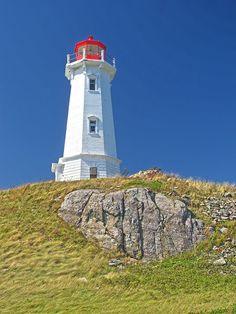 Louisbourg Lighthouse, Cape Breton, Nova Scotia