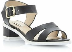 Dune Sporty Block Heel Leather Sandal on shopstyle.co.uk