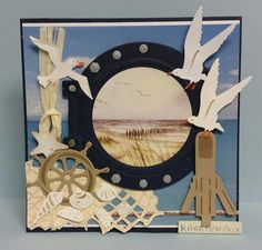 Scrapbooking Layouts, Scrapbook Cards, Marianne Design Cards, Nautical Cards, Beach Cards, Birthday Cards For Men, Card Making Inspiration, Sympathy Cards, Masculine Cards