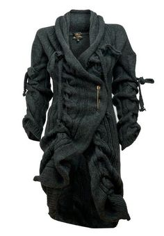Cozy and Chunky Knit Cardigan / vivienne westwood