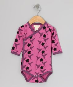 Pink Hummingbird Organic Wrap Bodysuit - Infant