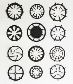 gas stove grill collection » Really fun wall art for the kitchen.