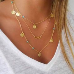 Multi Layer Infinity Necklace