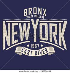 College New York typography, t-shirt graphics, vectors