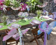 Woodland Fairy Birthday Party Package includes favors, activities, decor, and tableware. Shop now @ RevelBee.com