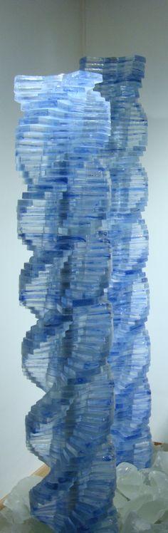Blue glass spiral
