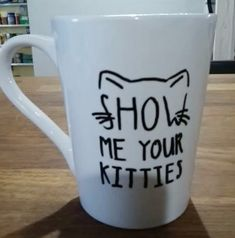 It's no secret I'm a crazy cat lady. Or that I love crafting. And coffee. It seemed only natural to put these things together and create cat mugs. Aren't they cute?  What You'll Need-  white mug- I usually buy mine at the dollar store sharpie oil based paint marker, whichever color (s) you…
