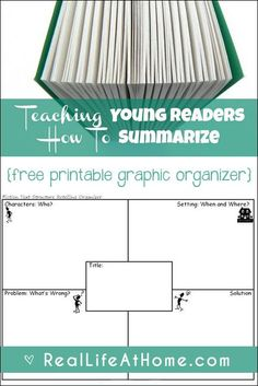 A look at why summarizing skills are important, how to work on them, and a free printable story elements graphic organizer to teach kids how to summarize.   Real Life at Home