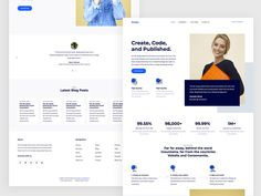Design is a free HTML5 template tailored using Bootstrap 4 suitable to use for any type of landing page websites. Awesome features of this free download template… Css Website Templates, Html Css, Landing Page Design, Ui Kit, Design Development, Free Design, Coding, Words, Blog
