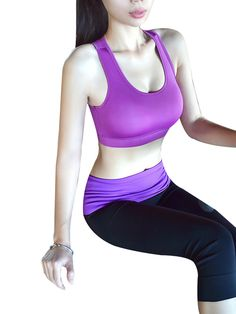 Burvogue Women seamless running bras is suitable for running or doing sports.