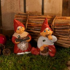 Vintage Friends, Gnome Statues, Gnome House, Gnome Garden, Woodland Creatures, Fantasy World, Elves, Troll, Miniatures