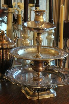Jewelry Stand  Vintage Silverplate Three Tier  by BeautifulRuin, $62.00