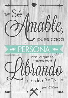 #ser #amable
