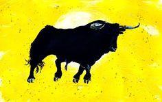 'Toro Yellow 2' von April Turner bei artflakes.com als Poster oder Kunstdruck $27.72