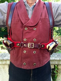 Tombstone Huckleberry Shoulder Holster by LondonJacks on Etsy Cowboy Holsters, Gun Holster, Leather Holster, Leather Harness, Rifles, Cowboy Action Shooting, Edc, Cool Guns, Tactical Gear