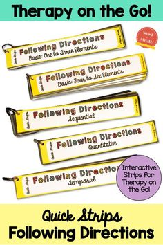 The perfect interactive grab and go tool for following directions!