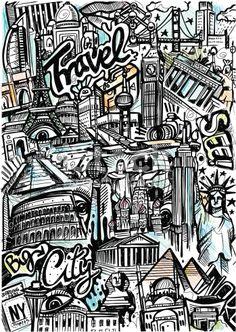 stock-illustration-19277972-world-travel-sketch.jpg 349×491 píxeles
