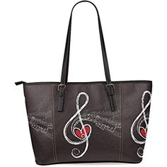 5f452d3937 Music Notes Women s Leather Tote Shoulder Bags Handbags     More info could  be found