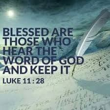 "YES AMEN! Jesus said ""Blessed are those who hear the Word of God and keep it. Biblical Quotes, Bible Verses Quotes, Jesus Quotes, Encouragement Quotes, Bible Scriptures, Faith Quotes, Spiritual Quotes, Religious Quotes, Christian Life"