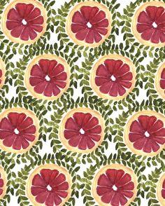 Fruit Patterns - Bouffants Broken Hearts