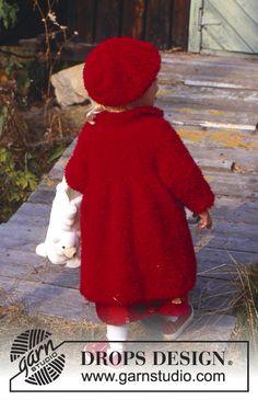 Baby Knitting Patterns, Knitting Baby Girl, Free Baby Patterns, Baby Sweater Knitting Pattern, Coat Patterns, Knitting For Kids, Free Knitting, Free Pattern, Drops Design