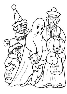 Free Halloween Coloring Pages for Kids - 004 | Halloween coloring ...
