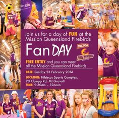 Great fan day from the QLD Firebirds Netball team.