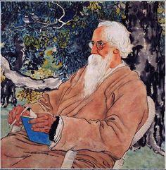 Xu Beihong - Portrait of Rabindranath Tagore