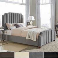 Results for: King Size Tufted Sleigh Bed at Overstock Bedroom Furniture Stores, Online Furniture Stores, Furniture Deals, Furniture Outlet, Nailhead Headboard, Headboard And Footboard, Panel Headboard, Grey Velvet Bed, Black Velvet