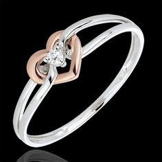 Diamantring Mon Amour in Rotgold (Ringe) : Edenly-Schmuck