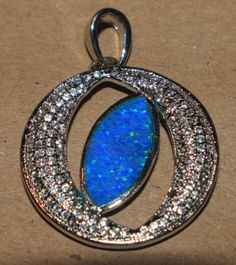 blue-fire-opal-Cz-necklace-pendant-Gemstone-silver-jewelry-chique-cocktail-CV