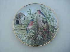 The Old Barnyard w/ Bluebirds by Cecil Eakins The Franklin Mint
