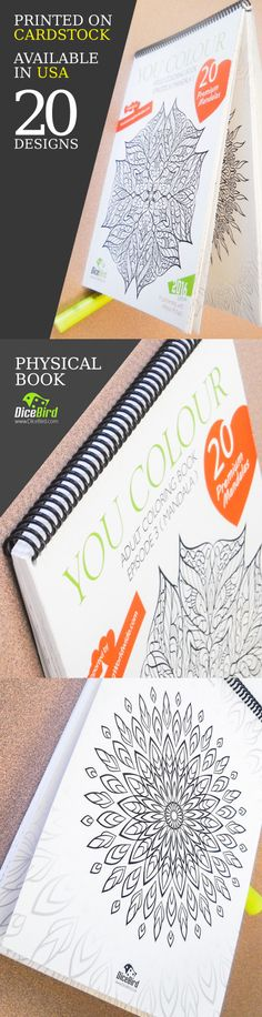 You Colour cardstock physical book now available