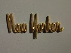 Found type:a lovely script nameplate on a mid '60s Chrysler New Yorker.