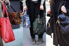 Street Style: Women and Their Ubiquitous 'Second Bags' - The Cut  Story of my life. One is NEVER enough for a city girl.