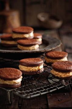 ... chocolate cookies with peanut butter filling ...