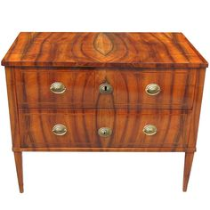 Outstandingly Refined German Biedermeier Chest | From a unique collection of antique and modern commodes and chests of drawers at http://www.1stdibs.com/furniture/storage-case-pieces/commodes-chests-of-drawers/