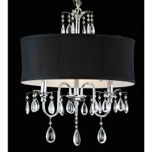 If Mike ever let me do anything fancier in the dining room...love this black shade!