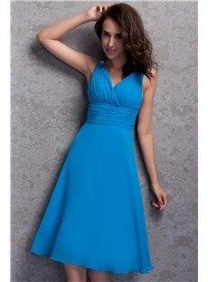 Pretty Knee-length V-neck Plus Size Renata's Cocktail Homecoming Dress Bridesmaid Dresses 2014- ericdress.com 9647882