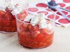 Compotée de tomates et mozzarella