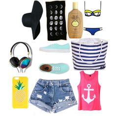 Just going to the beach by paolagabriela866 on Polyvore featuring Vans, Abercrombie & Fitch, Kate Spade and Sun Bum