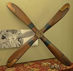 46 Inch Four Blade Wood Airplane Propeller