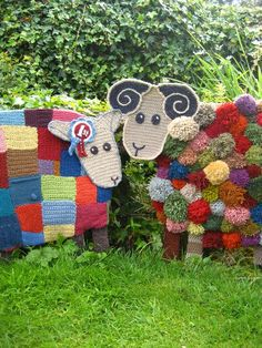 """Yarndale's """"Betty"""" (left) and """"Bert"""" (right) from Lucy at Attic24. Yarndale is held annually in the market town of Skipton in North Yorkshire, England."""